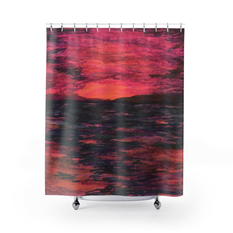 Deep Pink R3 Shower Curtains