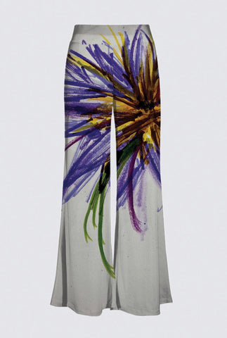 Purple Flower Palazzo Pants