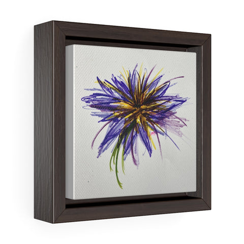 Purple Flower Square Framed Canvas Print
