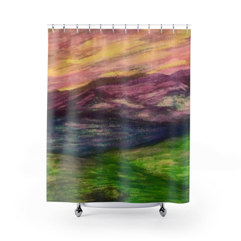 Dusky Shower Curtains