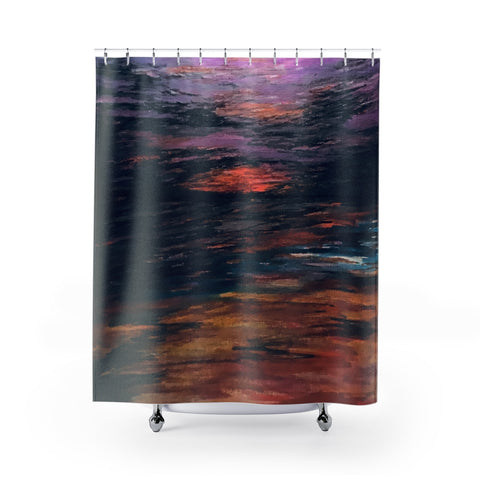 Red Beach Shower Curtain