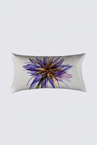 Purple Flower Coussin Bastien Pillow