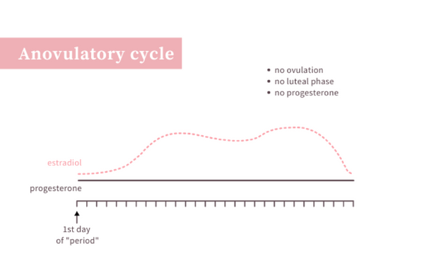A cycle with no progesterone is an anovulatory cycle