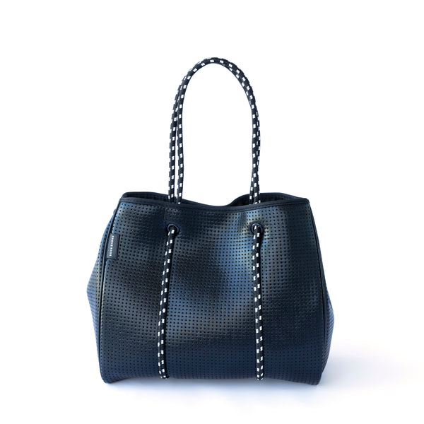 The Freddie Bag (Metallic Black) Neoprene Tote Bag