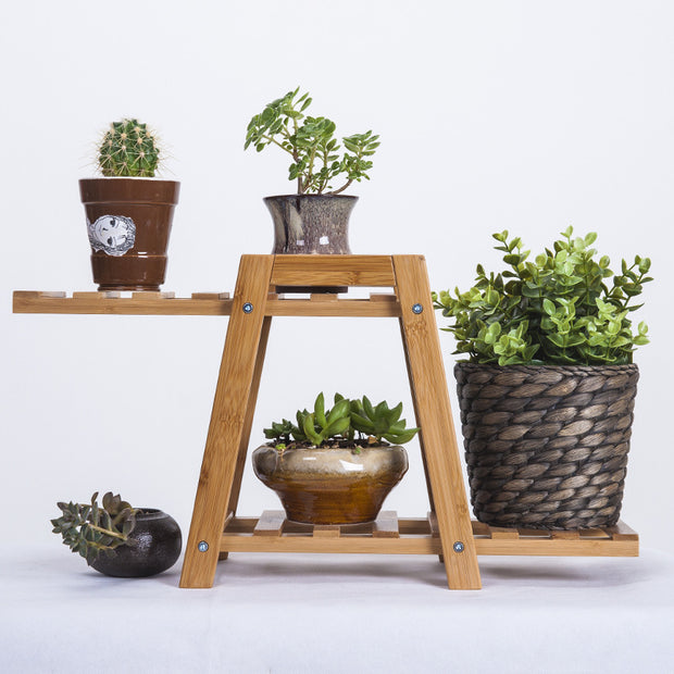 Wooden Bamboo Plant Stand-Nordic Hut