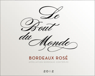 Le Bout du Monde Rosé 2014 DOMAINE SERISIER (Winner of three Gold Medals) Free 6 pack of L'Escalier Merlot with every dozen ordered