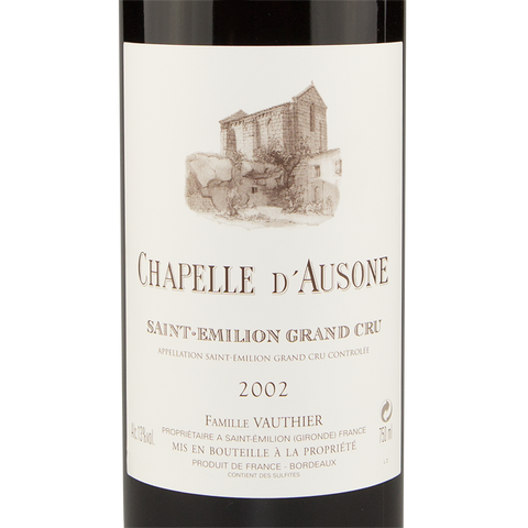 Bordeaux Wine Chapelle d'Ausone 2002