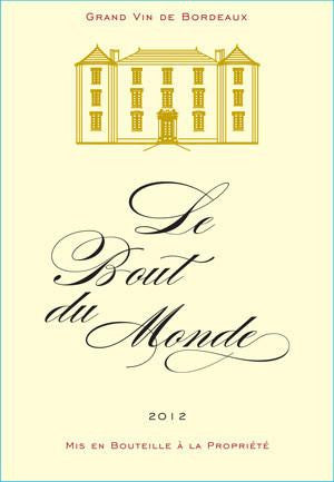 Bordeaux Wine - Le Bout du Monde - Rouge 2012 (Gold Medal Winner)