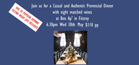 Second Night Due to Popular Demand Authentic Provencial Dinner Bon Ap' $110pp