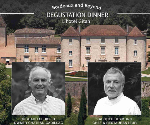 Bordeaux and Beyond presents a five course degustation dinner created by Jacques Reymond $190pp