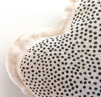 Cloud shaped pillow - Speckled print