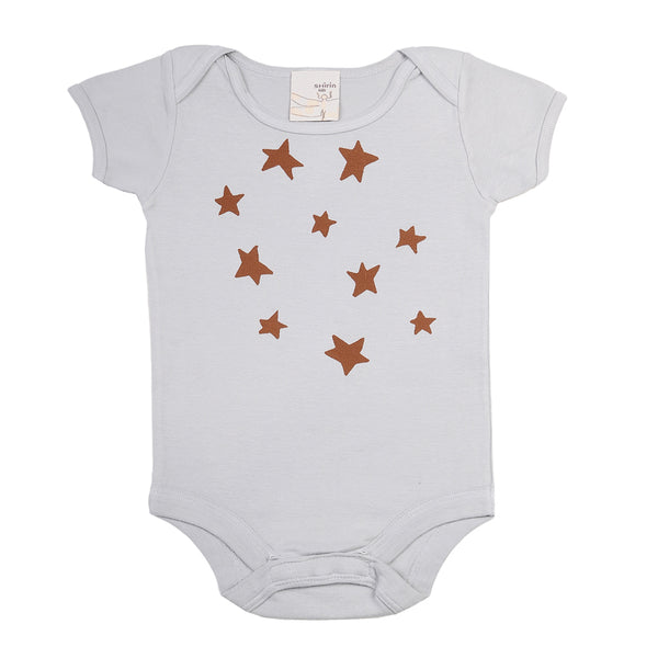 Organic infant one piece- Stars print