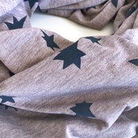 Lightweight raw edge scarf - Blue star cluster print