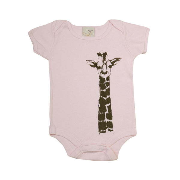 Organic infant one piece- Giraffe print