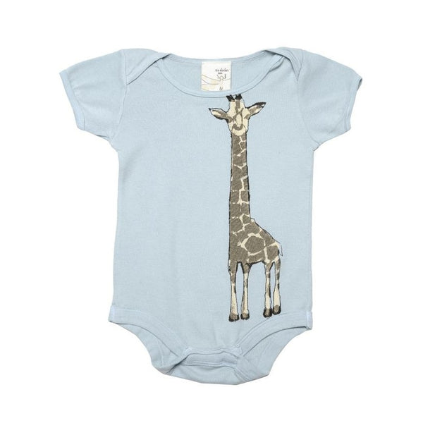 Organic cotton Infant one piece- Giraffe print