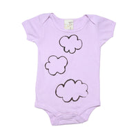 Organic Infant one piece- Cloud print