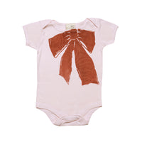 Organic infant one piece- Ribbon print