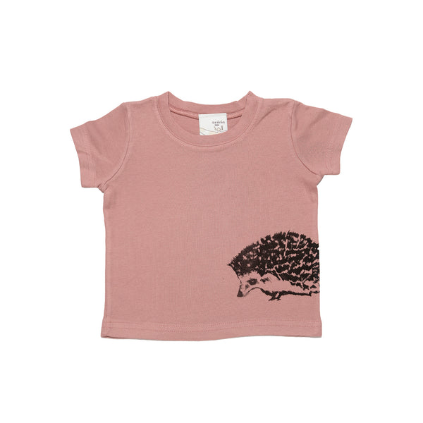 Organic cotton baby tee- hedgehog print