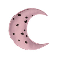 Moon shaped pillow- Star cluster print