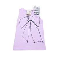 Infant gift combo- Ruffled sleeve organic tank and matching bloomer.