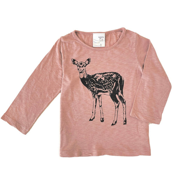 Long sleeve tee - Fawn print