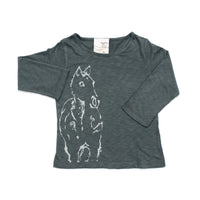 Long sleeve tee- Horse print