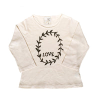 Long sleeve tee- Heart garland print