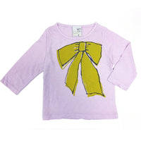 Long sleeve lilac tee - Ribbon print