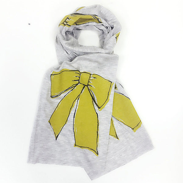 Kids scarf- Ribbon  print
