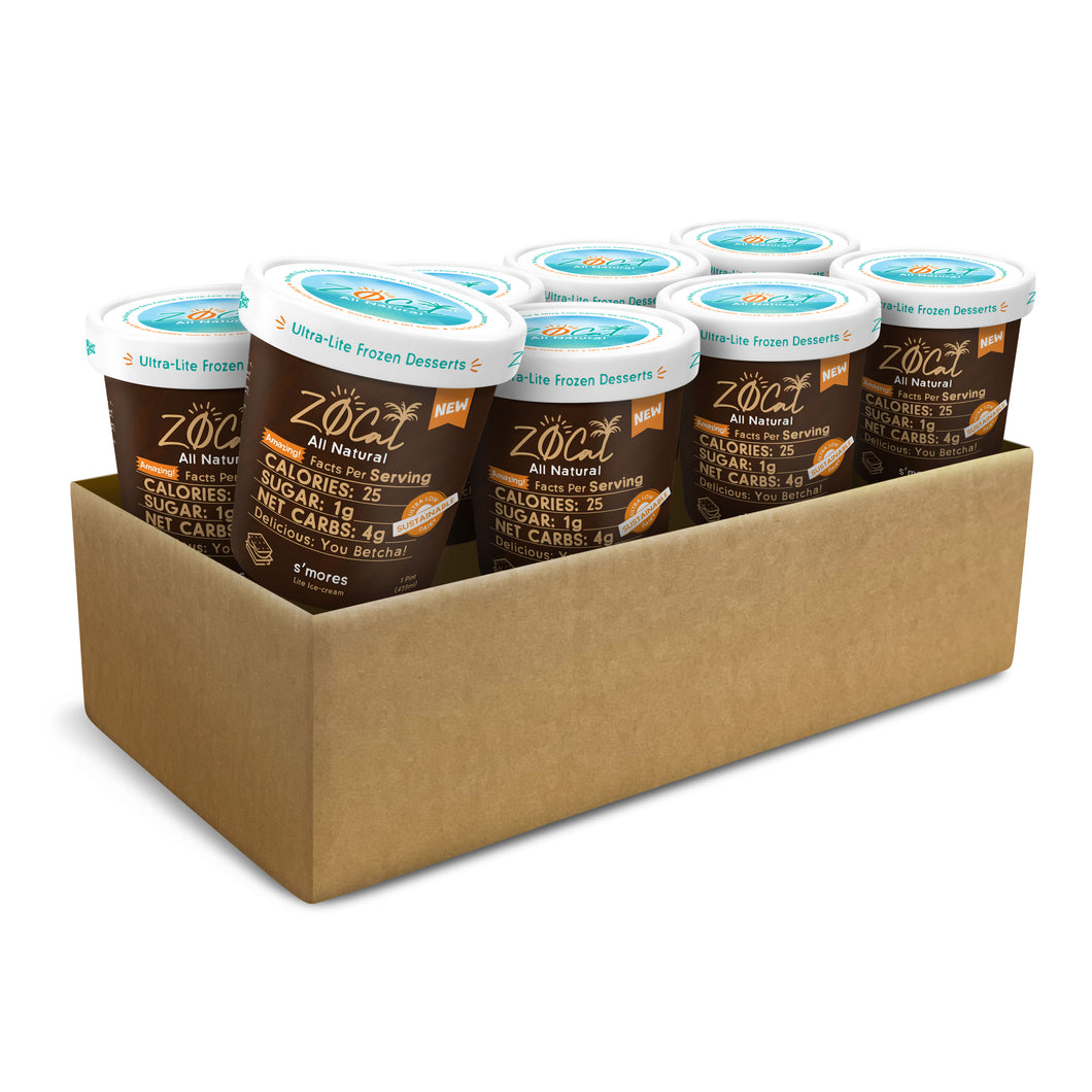 Z0Cal-S'mores-Case of 8 @ $4.49/pint