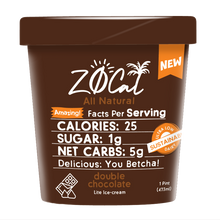 Load image into Gallery viewer, Z0Cal-Double Chocolate-Case of 8 @ $4.49/pint