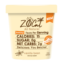Load image into Gallery viewer, Z0Cal-Vanilla Bean-Case of 8 @ $4.49/pint
