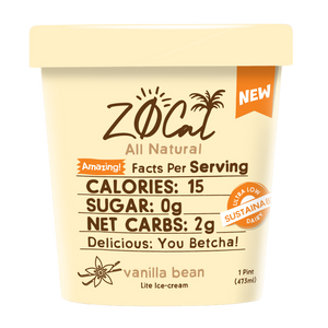 Z0Cal-Vanilla Bean-Case of 8 @ $4.49/pint