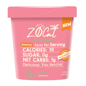 Z0Cal-Guava Sorbet-Case of 8 @ $4.49/pint