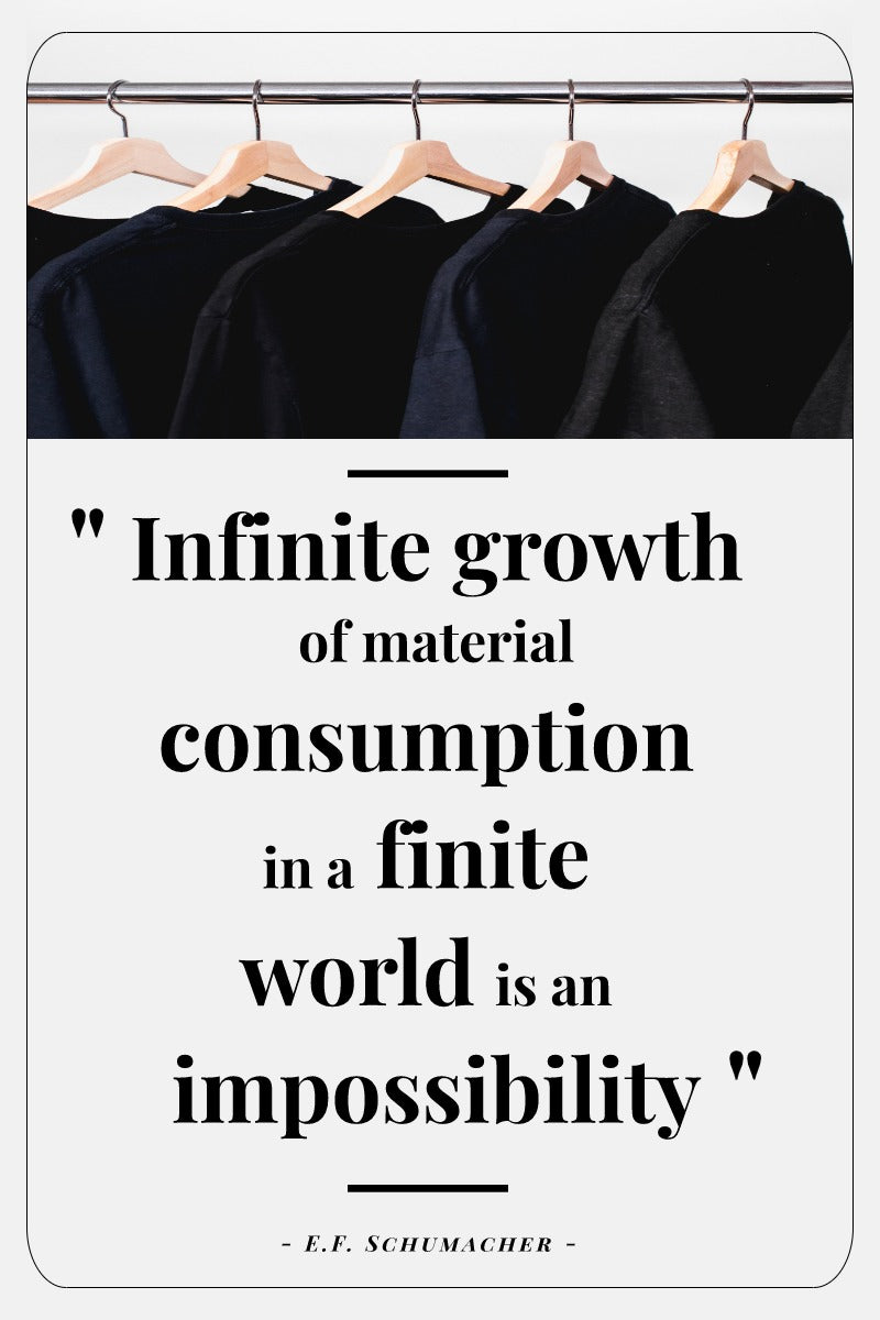 Infinite growth of material consumption in a finite world is an impossibility