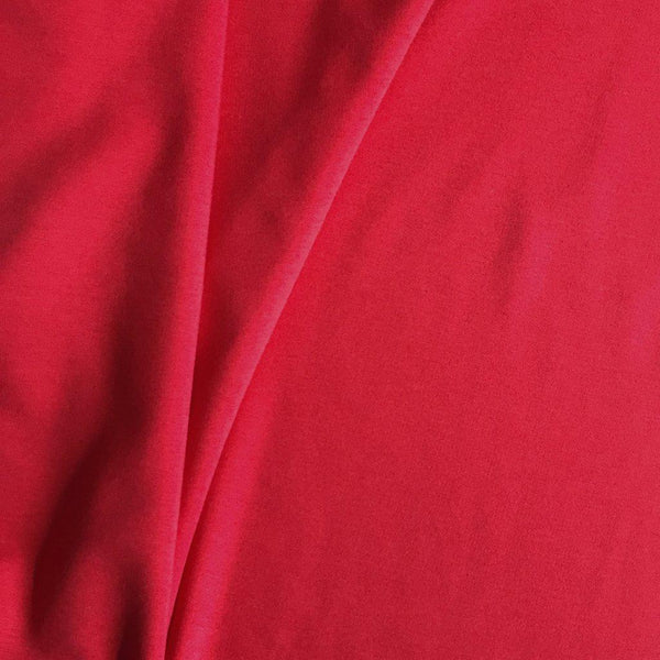 Red Bamboo French terry fabric close up Sew Not Complicated
