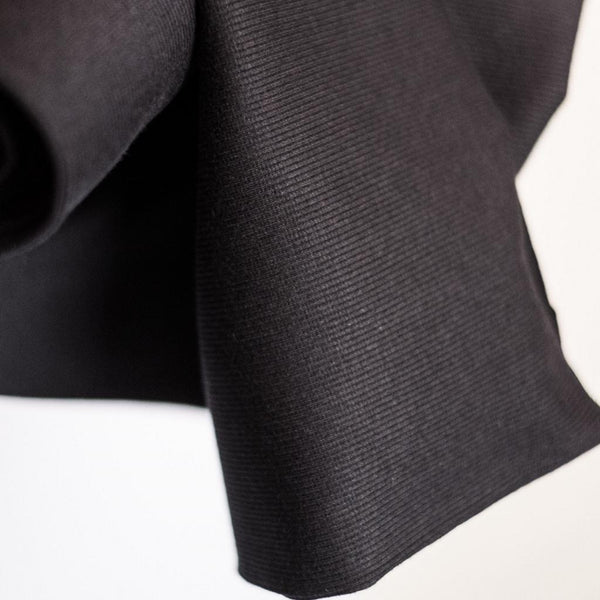 Merchant & Mills - Cotton Rib Black - 1/2 meter-Fabrics-Sew Not Complicated Atelier de Couture