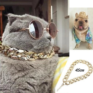 Cuban Link Thick Gold Chain Pets Safety