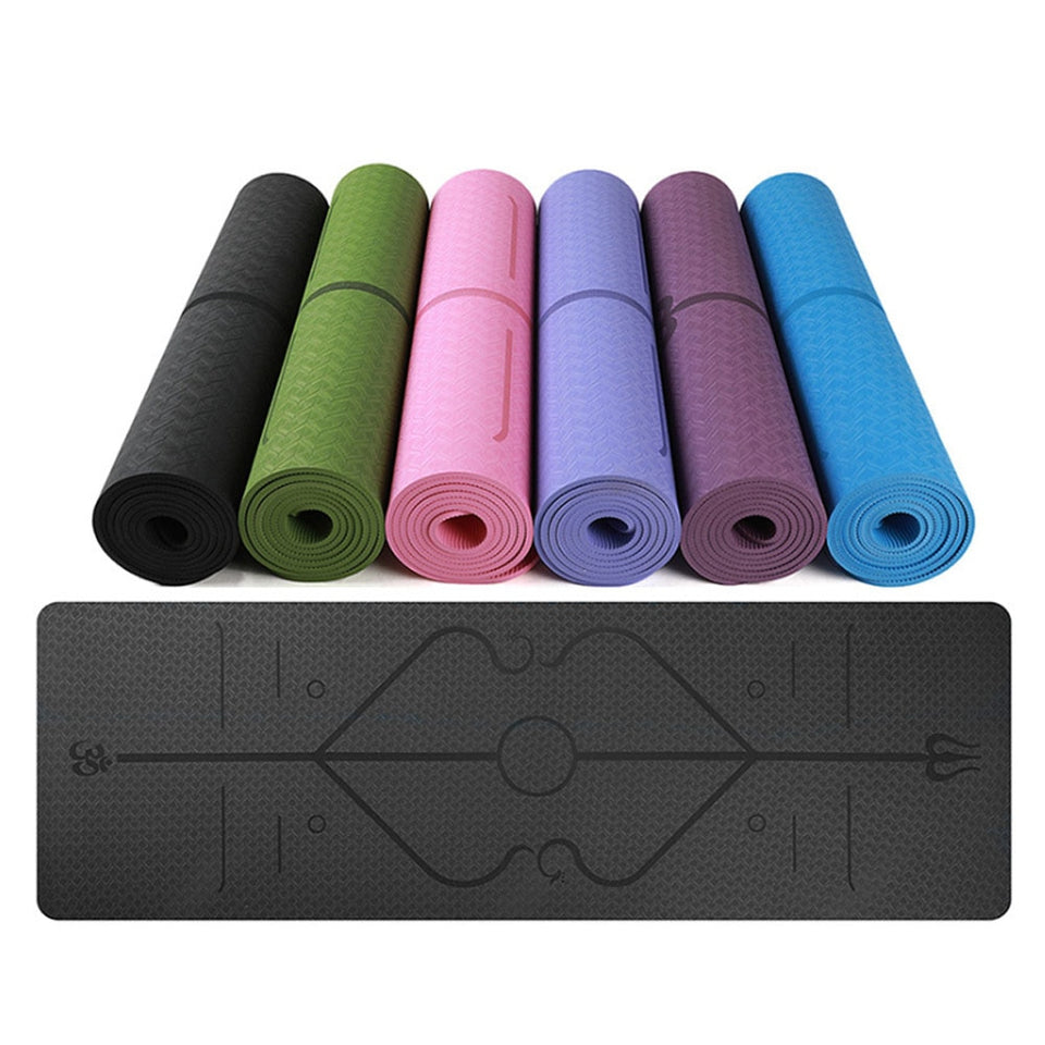 Yoga Mat With Position