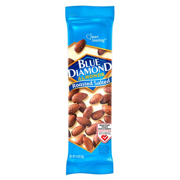Almonds - Blue Diamond Roasted Salted (1.5 oz )
