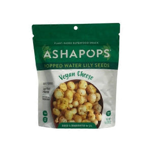 Popped Water Lily Seeds - Ashapops Vegan Cheese (1 oz )