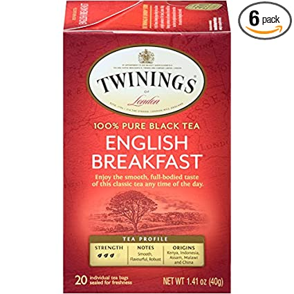 Black Tea - Twinnings English breakfast (20 ct)