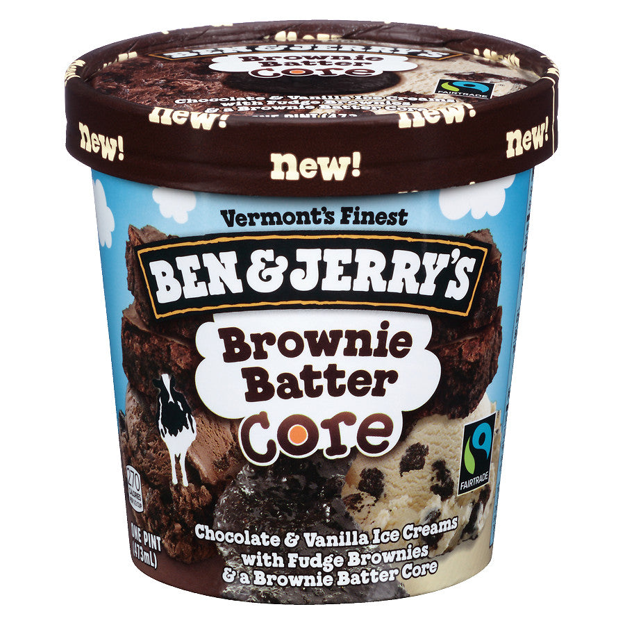 Ben & Jerry's Ice Cream - Brownie Batter Core (1 pint)