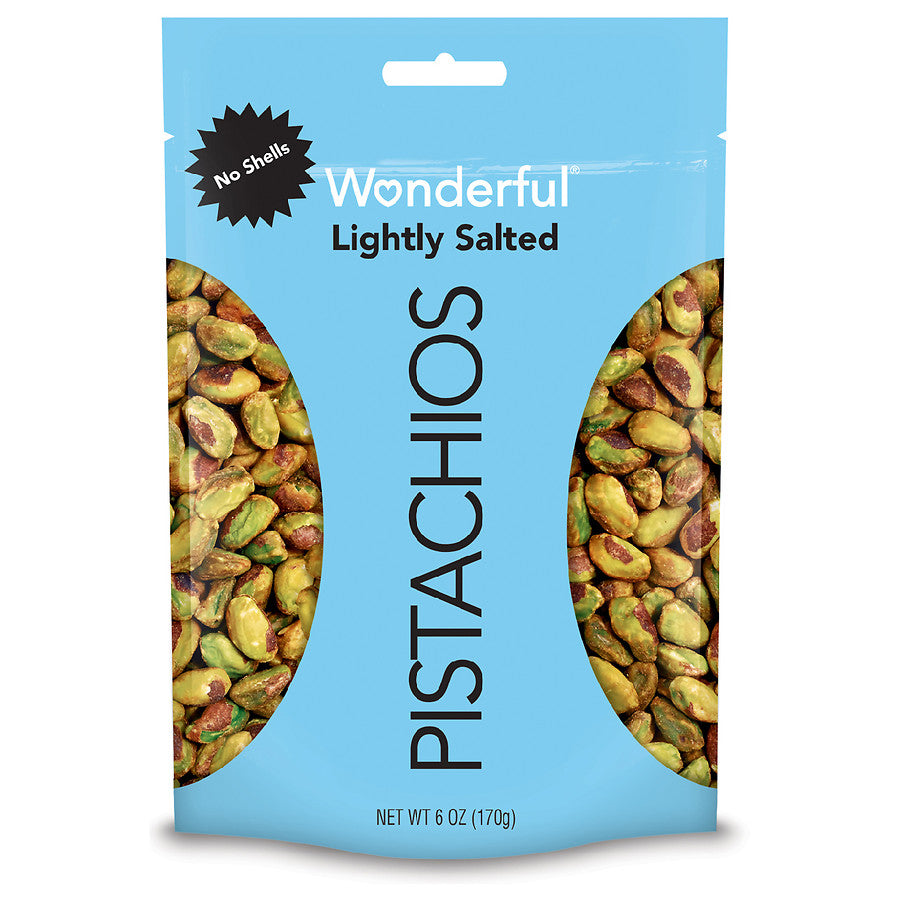 Wonderful Pistachios - Lightly Salted, No Shells (6 oz)