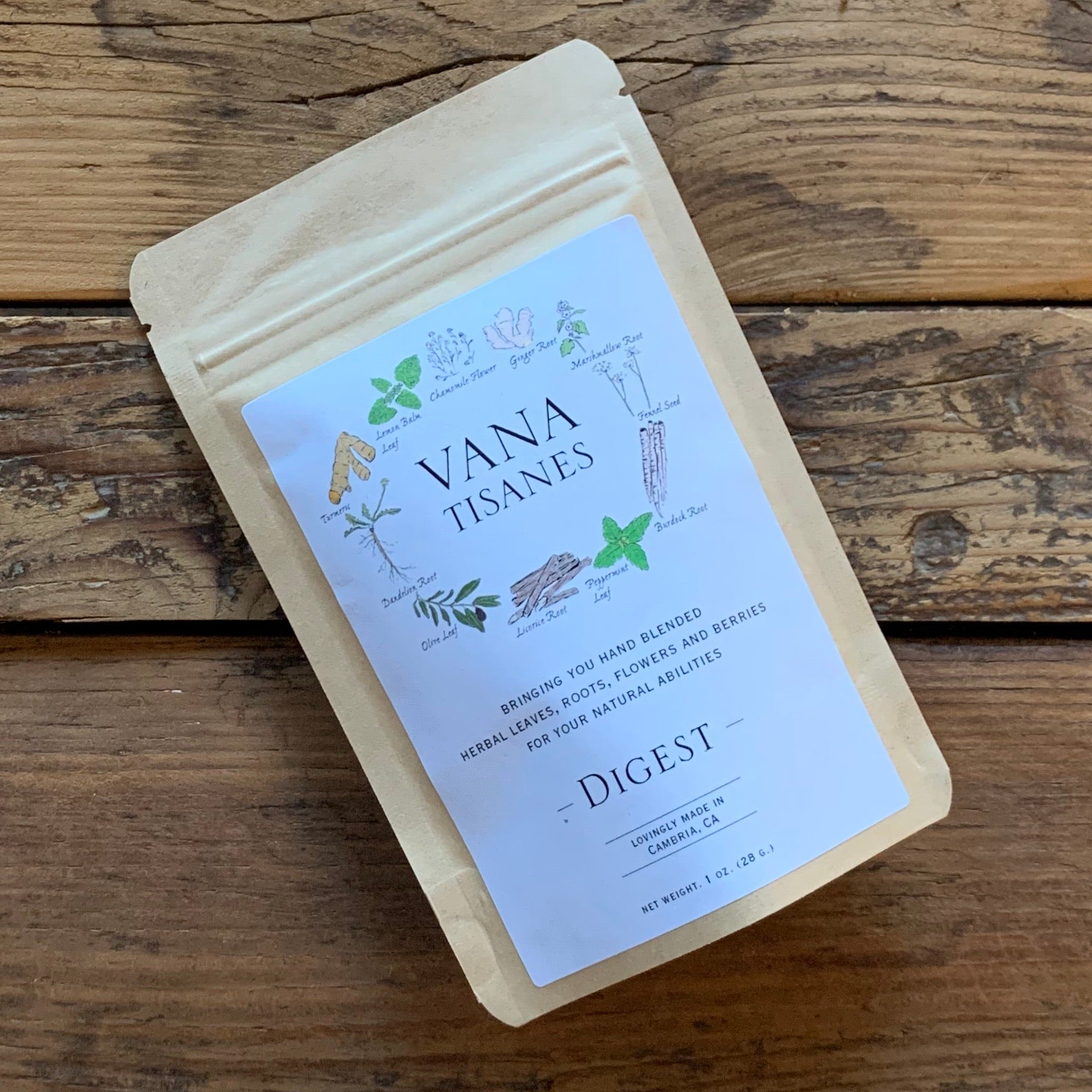 Herbal Loose Leaf Tea Blends by Vana Tisanes