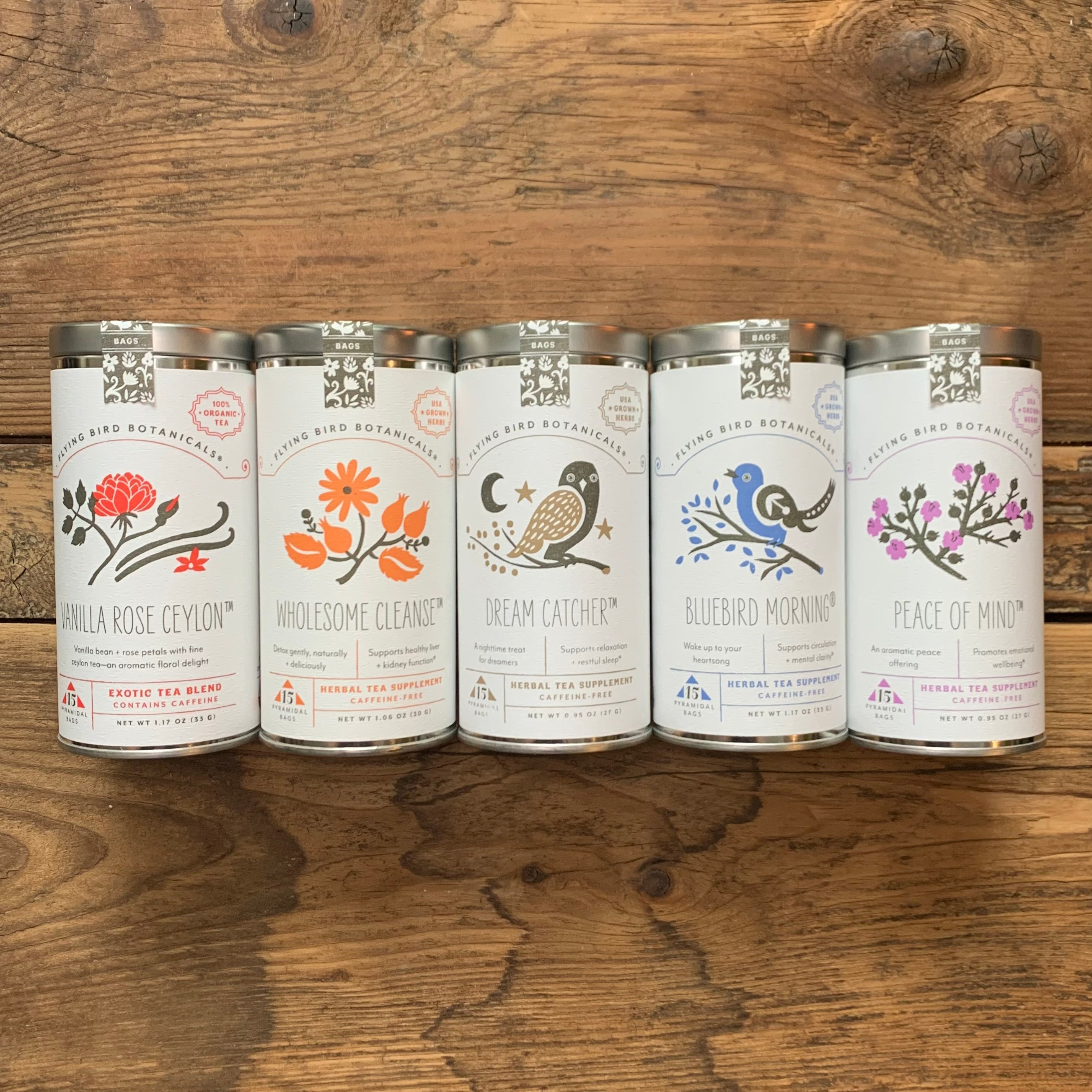 Tea Blends by Flying Bird Botanicals