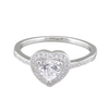 Heart Shaped CZ Dress Ring