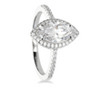 Marquis Halo CZ Ring