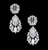 Hollywood Glam CZ Drop Earrings