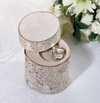 Rustic Birch Wood Ring Holder